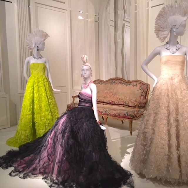 Mohawk clad mannequins sporting luxurious ballgowns was a must-see for this exhibit.